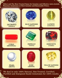 Buy Authentic Astro Gemstones for Jyotish Remedies post consultation and proper scientific Birthchart Analysis